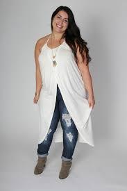 plus size clothing for women long wrap halter top white sizes