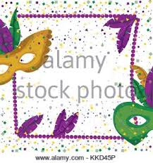 mardi gras picture frame mardi gras frame with feathers and colorful confetti background