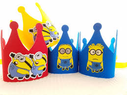 minion party minion birthday crown despicable me party hats minion