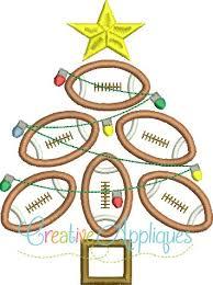 christmas applique football christmas tree applique creative appliques