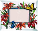 Handpainted Art Glass Photoframe by Joan Baker Designs, California ...