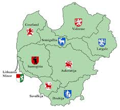 Map Of Lithuania Lithuania And Latvia Etnographic Regions Map By Samogost On Deviantart
