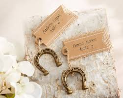 horseshoe party favors lucky in horseshoe place card holders set of 6 wedding