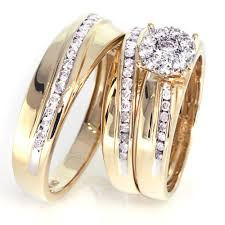 wedding ring trio sets trio wedding ring set