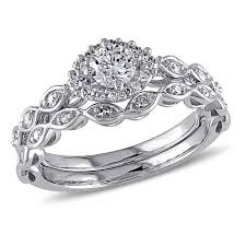 10k wedding ring 0 51ctw infinity design engagement ring and wedding band