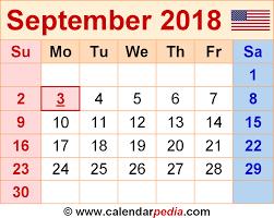 september 2018 calendar template printable 2017 calendars