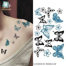 2 pcs special offer temporary butterfly stickers