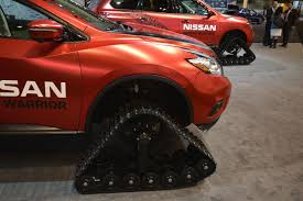 Nissan Rogue Warrior - nissan u0027s winter warrior concepts are suv sized snowmobiles