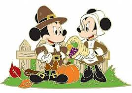 mickey mouse and minnie mouse as pilgrims thanksgiving pin 2011
