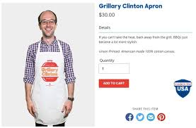 hillary clinton wants to sell you this u0027grillary clinton u0027 apron