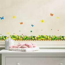 Butterfly Kids Room by Beautiful Yellow Flower Border Decor Colorful Butterfly Kids Room