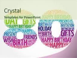 80th birthday powerpoint templates crystalgraphics