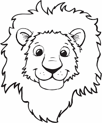 coloring lovely lion coloring sheet animals town free