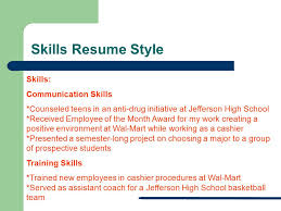 Communications Skills Resume Resume Workshop Student Support Services Preparing You For The