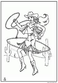 cowgirl cowboy coloring pages