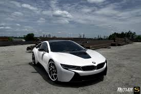 matte white bmw bmw i8 forged sv62 savini wheels butler tires u0026 wheels