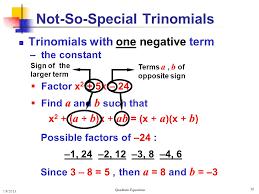 36 not so special trinomials