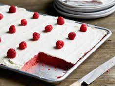 red velvet sheet cake with classic red velvet frosting recipe