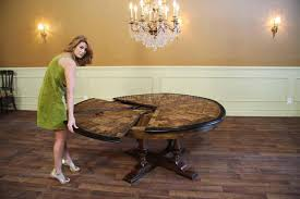 dining room tables with built in leaves round dining room table with leaf photogiraffe me