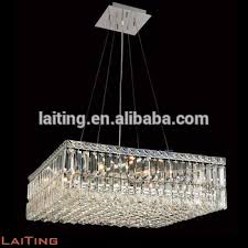 Square Chandelier Shining K9 Pendant Lights Dining Table Top Square