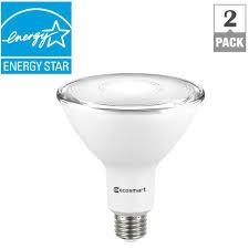 outside led light bulbs ecosmart 120 watt equivalent par38 dimmable led flood light bulb
