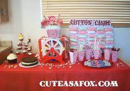 themed dessert table carnival party dessert table