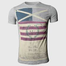 Flag With Cross And Stripes Online Shop Striped T Shirts Men Designer Clothes Cross Flag Print