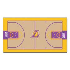 fanmats nba los angeles lakers 2 ft 6 in x 4 ft 6 in large