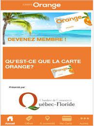 chambre de commerce qu饕ec floride carte orange on the app store