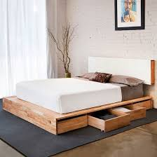 lovely queen platform bed with storage and headboard 44 in king