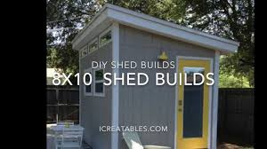 8x10 shed plans from icreatablestv youtube