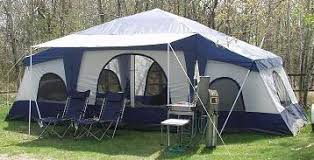 cabin tent deluxe 4 room cabin tent 24 x10 large cing tent sleeps 12 16