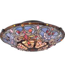 Quoizel Flush Mount Ceiling Light Quoizel Tf1805svb 2 Light 17 Inch Vintage Bronze Flush