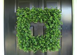 artificial boxwood wreath custom square boxwood wreath artificial boxwood wreath