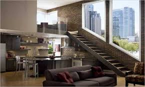 brick apartment interior home design ideas