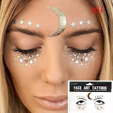 tattoo makeup freckles 1pcs fashion disposable gold face tattoo stickers waterproof