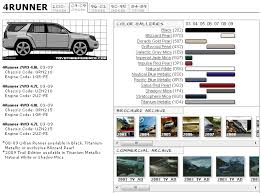 Toyota Interior Colors Toyota 4runner Touchup Paint Codes Image Galleries Brochure And