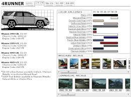 toyota 4runner interior colors 4th 4runner color chart toyota 4runner forum largest