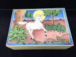 gorham serenade vintage gorham 7 unicorn lacquered jewelry box plays