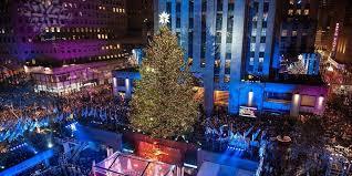 new york christmas tree lighting 2018 rockefeller center holiday christmas tree lighting 2018 gala with