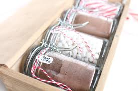hot chocolate gift set diy coffee stained hostess gift set sugar cloth diy