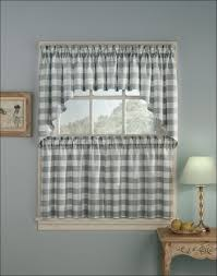 Cheap Cafe Curtains Kitchen Green And White Curtains Gray Cafe Curtains Black