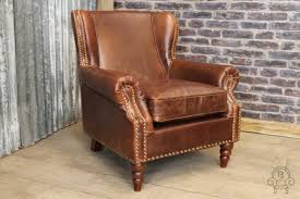 Leather Armchair Studded Leather Armchair Vintage Style Club Armchair The Dorchester