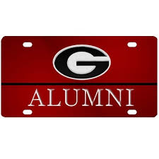 uga alumni car tag uga alumni mirrored car tag dawgwear uga merchandise and