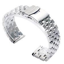 solid stainless steel bracelet images Silver black solid stainless steel 22mm 20mm watchbands folding jpg