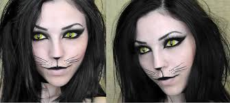 halloween contact lenses usa black cat halloween makeup youtube