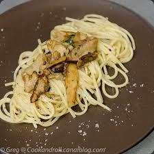 cuisiner des cepes frais spaghettis aux cèpes cook n roll