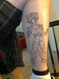 super saiyan 2 gohan from dragon ball z tattoos pinterest