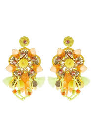 sweet earrings sweet deluxe earrings gold coloured yellow orange zalando co uk