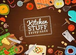 les fonds de cuisine fond de cuisine avec cadre décoratif contenant des produits de